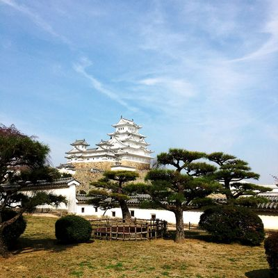 Architecture Building Building Exterior Built Structure Cloud - Sky Day Himeji Castle History Incidental People Nature Outdoors Place Of Worship Plant Religion Sky The Past Tourism Travel Travel Destinations Tree