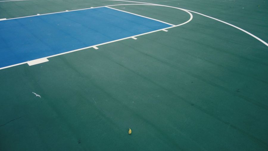 Blue And Green Sport Court Tennis Day Playing Field No People Outdoors