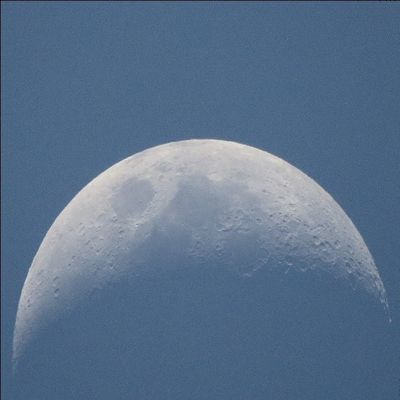 Moon @ 5:18pm ; 1/25/2015 Canon Sx50 Moon Zoom