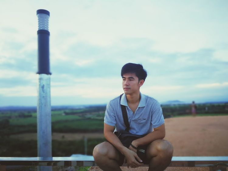 EyeEm Selects Sitting One Man Only One Person Sky Front View Only Men Cloud - Sky People Outdoors Casual Clothing Adult Adults Only Day Blue Relaxation Sport Nature Men Be. Ready.
