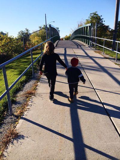 Holding hands. Scarborough Cousins  Bridges Mylittlecjp