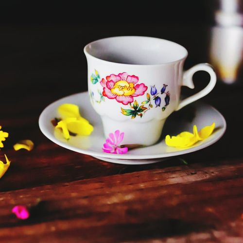 Close-up of tea cup
