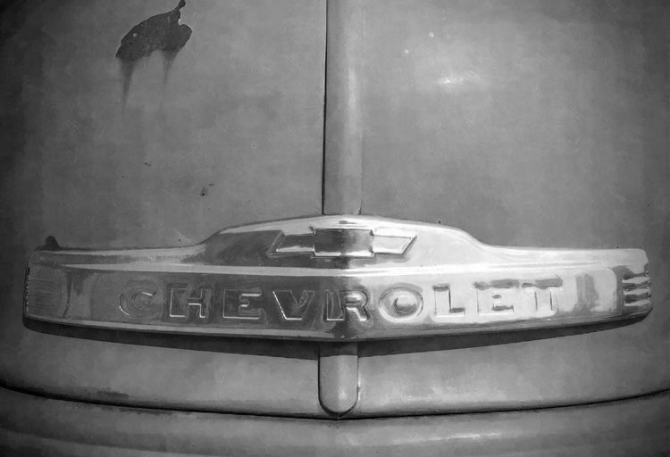 old truck Blackandwhite Blackandwhite Photography Chevrolet Chevy Chevy Truck Hood Iphone6 IPhoneography Old Truck Pickup Truck