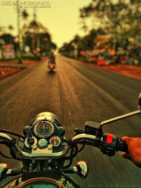 My first ride GreatMorning royalenfieldindia Trivandrumdiaries Kerala