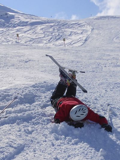 Skiing is