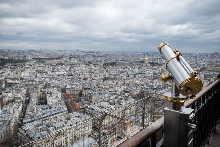 Eiffel Tower Tourist Attraction  Architecture Cityscape Telescope Travel Destinations View From Eiffel Tower
