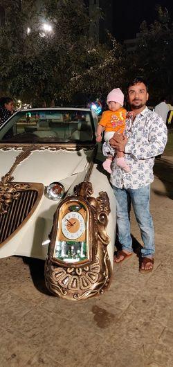 Full Length Child Togetherness Standing Childhood Boys Car Vintage Car Land Vehicle Vehicle Mode Of Transport