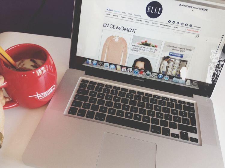 MacBook Elle Magazine Red