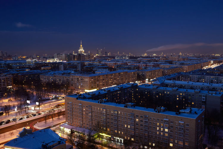Aerial Architecture Architecture Building Capital Cities  City City Life Darkness Landmark Moscow Motion Blured Outdoors Road State Traffic University Urban
