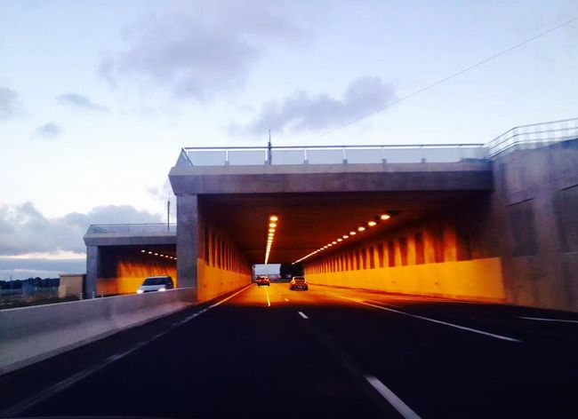 On the road~Sur la route (在路上) On The Road Light Tunnel France