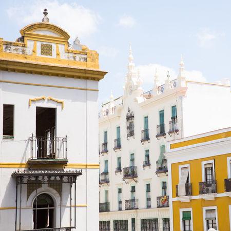 City SPAIN Sevilla Seville Spanish Architecture Architecture Building Building Exterior Europe Seville,spain Travel Destinations Yellow