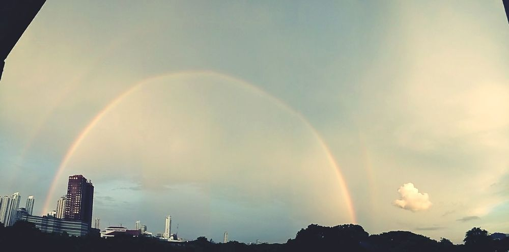 Double rainbow. . . Beautiful ♥ Check This Out Rainbow🌈 Double Rainbow Somewhere Over The Rainbow Chasing Rainbows