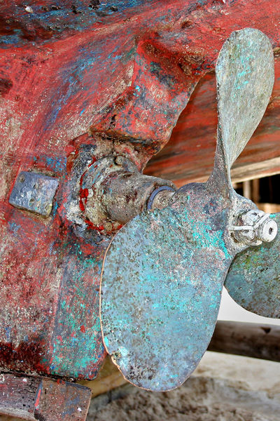 Boat Propeller Close-up Day Metal No People Outdoors Rusty Weathered