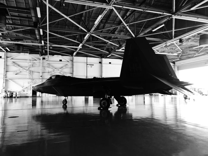 Just another day in the Air Force Airplane Airport Air Vehicle Travel Transportation Aerospace Industry Day Airplane Hangar Airport Departure Area Plane Jet F-22 F22 Air Force