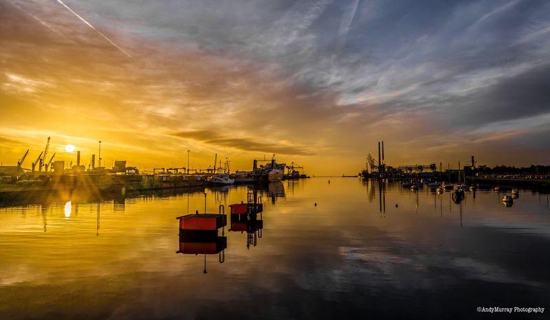 Sunrise Dublin Port No Filter 6amwakeup Before Work The Week On EyeEm
