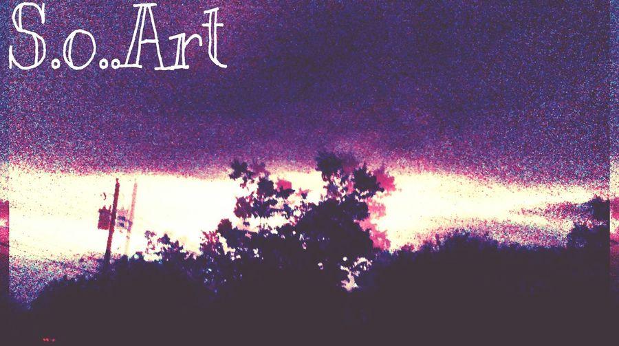 Trippy Hello World Visual Poetry ..S.o™ Dark Darkart
