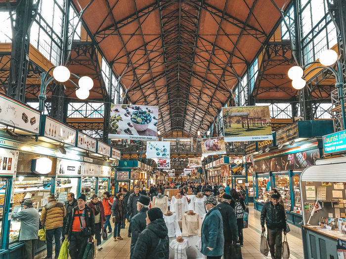 Budapest market Group Of People Men Real People Built Structure Crowd Large Group Of People Ceiling Architecture Lifestyles Market Indoors  Shopping Retail  Store Leisure Activity Light Consumerism Budapest Budapest Market Hungary