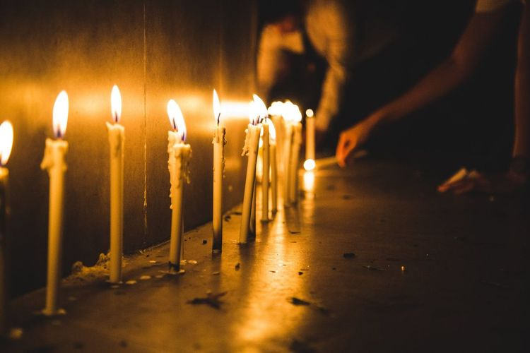 Light RAMA9 I Love King Sad Day Thailand Burning Candle Candlelighting Candlelights Celebration Close-up Day Diya - Oil Lamp Flame Glowing Heat - Temperature Illuminated Indoors  No People
