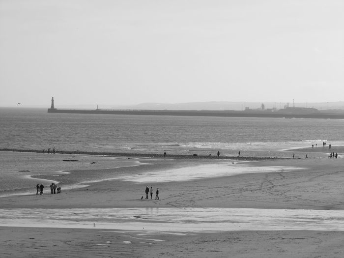Beach Beauty In Nature Black And White Photography Coastline Horizon Over Water Nature North East Coast Sand Sea Shore Tranquil Scene Water