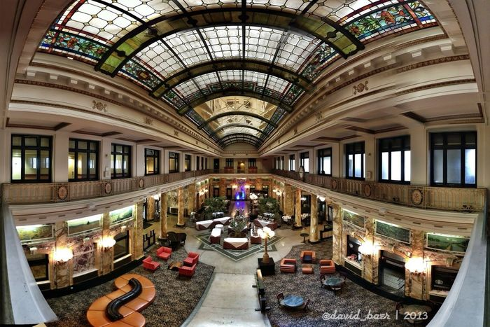 Such a gorgeous lobby!! Super happy with my choice to stay here! Autostitch Scranton Pennsylvania