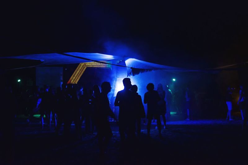 Group of people at night