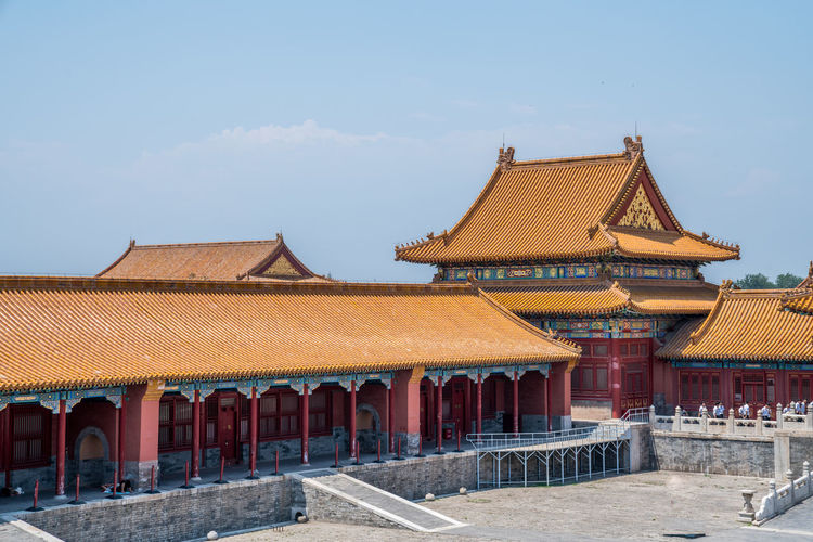 A tour of the Forbidden City in Beijing, China Ancient Ancient Buildings Ancient Times Beijing Blue Sky China Eaves Famous Place Forbidden City Historic Sites History Old Places Of Interest Plaques Royalty Scenic Spots Sky Temples Tourism Travel Well-known White Clouds Architecture Built Structure Building Exterior Roof Building Religion Belief Place Of Worship Day Nature Spirituality No People Travel Destinations Sunlight Outdoors Roof Tile