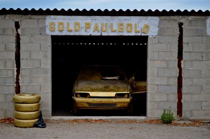 Ground Control Arles Arles, France Garage Photography Garage Auto Gold Colored Goldcar No People Day Outdoors EyeEmNewHere
