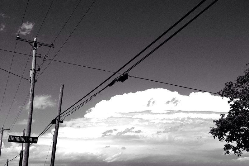 Clouds And Sky Monochrome Black & White Blackandwhite