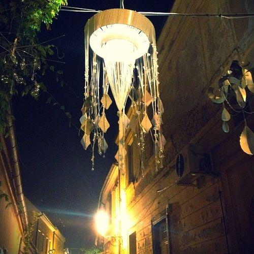 Streets of my Town are absolutely Stunning . Spancirfest time of the year. Night Sky Vista Dark Light Varazdin Croatia