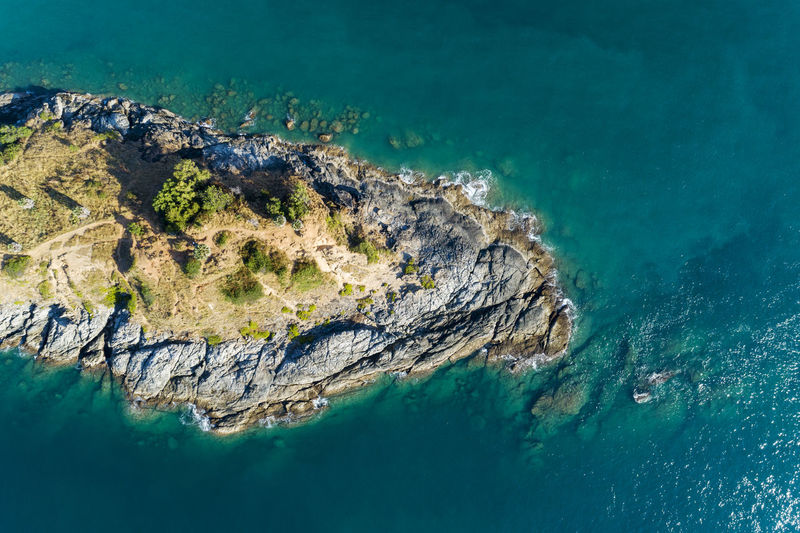 Sea Water Solid Rock - Object Rock Beauty In Nature Scenics - Nature Nature Turquoise Colored Land Rock Formation Outdoors Underwater Island Idyllic Beach Geology Day Tranquility No People UnderSea Crag
