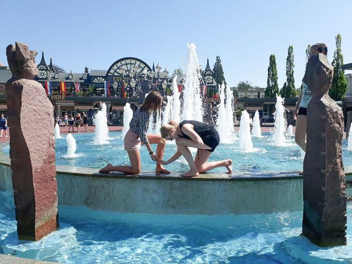 Europapark Rust Water Swimming Pool Fun Leisure Activity Day Vacations Togetherness Summer People Lifestyles Real People Full Length Outdoors Adult Men Friendship Women Adults Only Architecture Young Women