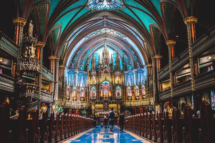 HUAWEI Photo Award: After Dark Aisle Altar Arch Architectural Column Architecture Belief Building Building Exterior Built Structure Ceiling Glass Group Of People Illuminated Pew Place Of Worship Real People Religion Spirituality Travel Destinations