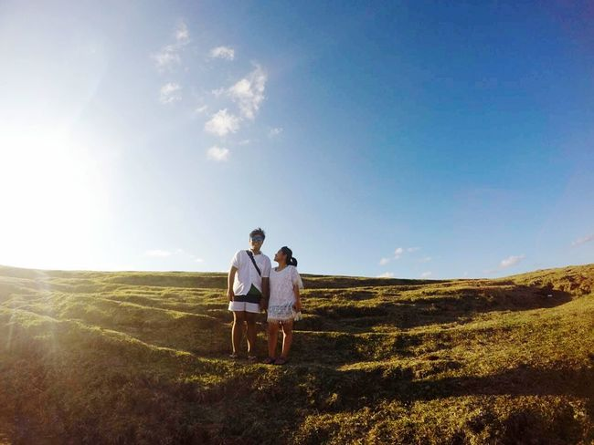 Two People Togetherness Couple - Relationship Bonding Outdoors Nature Day Sky Grass Peace Love MyMan Myself Lombokisland Travel Photography Travel Traveler