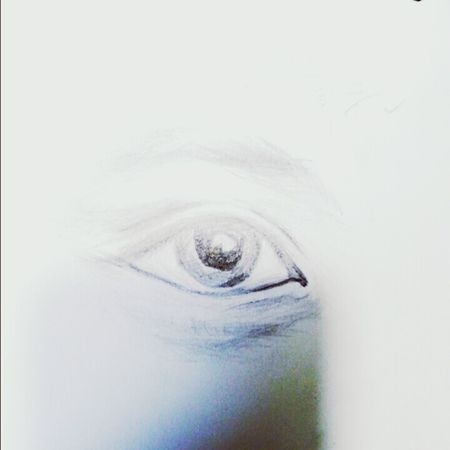 新学的素描 Eye