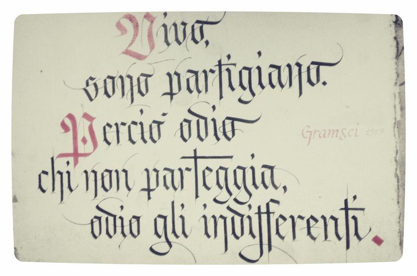 Gramsci Paper Ink Handwriting  Close-up