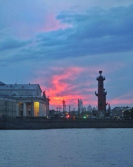 Architecture Sky No People Industry Sunset Night City Spb_live Saint Petersburg