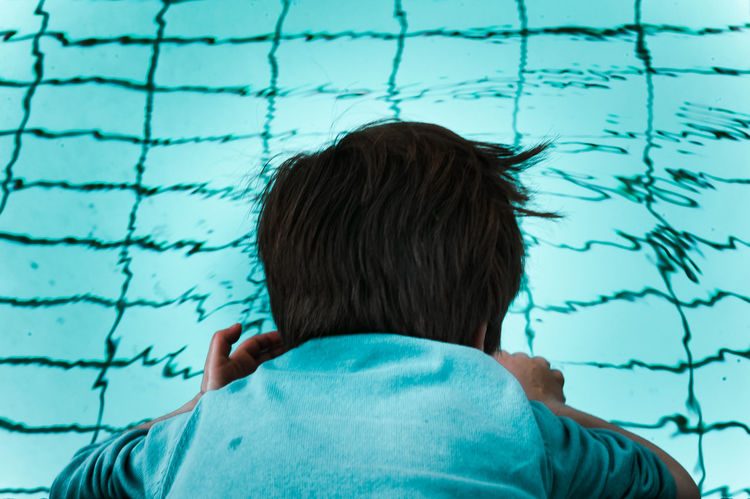 Swimming Pool Hair Blue Boy Child Head Back Headshot Outdoors Pool Portrait From Behind Swimming Pool Turquoise Colored Water EyeEmNewHere #urbanana: The Urban Playground Be Brave Summer In The City