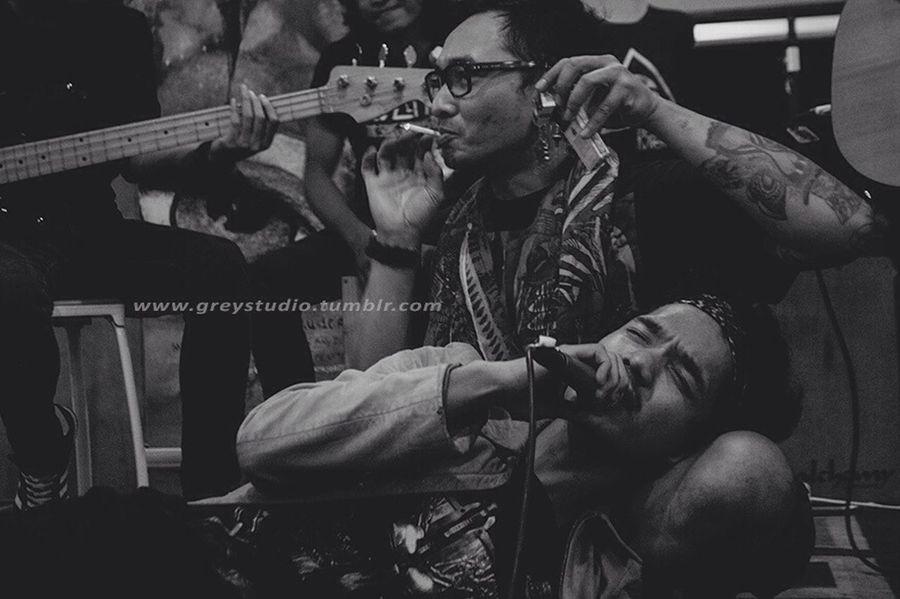 Greystudio Band Blackandwhite Jamming Acoustic