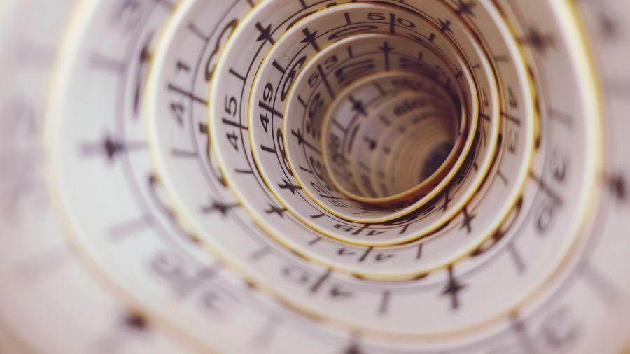 Full frame shot of spiral shape tape measure