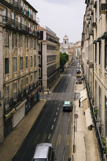 View of city street