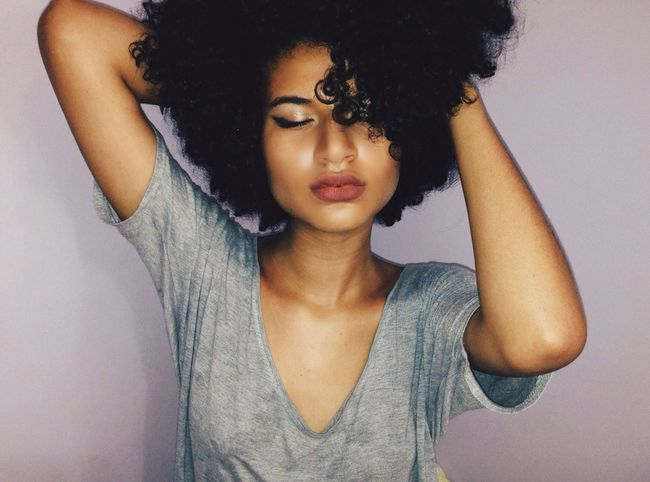 Blackpower Eyes Closed  Beautiful Woman Real People