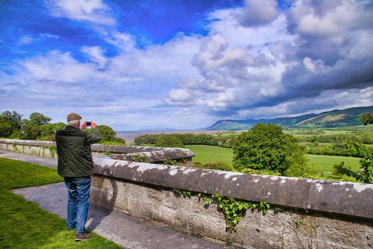 One Person Leisure Activity Scenics - Nature Nature Beauty In Nature Tranquil Scene Outdoors Looking At View Penrhyn Castle Castles In Wales Stately Home Historial Building Tourism Tourist Attraction  Tourist Destination