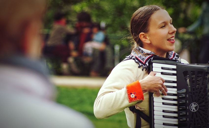 A musician Music Musical Instrument Playing Musical Equipment Real People Leisure Activity One Person Lifestyles Arts Culture And Entertainment Accordion Musician Focus On Foreground Young Adult Day Performance Outdoors The Portraitist - 2019 EyeEm Awards