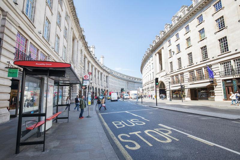 LONDON, ENGLAND - MAY 2:View of Regents Street in London on May 2, 2017 GB London Oxford Oxfordstreet Road Shopping Travel United Kingdom Editorial  England Regent Regentstreet Uk