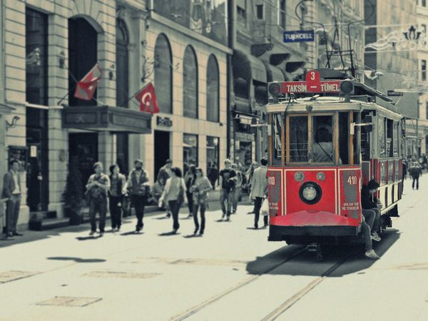 Taksim Turkey Traveling Arround The World Hollydays Instanbul Red Train Rail Streetphotography Istiklal Caddesi Istanbul Turkey Istanbul Istanbullovers Turquia