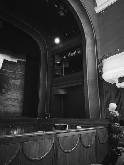 EyeEm Best Shots EyeEmNewHere EyeEm Gallery HuaweiP9 Huaweiphotography Streetphotography Blackandwhite Black And White Lines Geometry Moscow Light And Shadow Black & White Mobilephotography EyeEmBestPics Indoors  Interior Design Theater Operahouse Women One Person Wagner Music Lighting Equipment Stage - Performance Space Monochrome Architecture Amphitheater Arch Stage