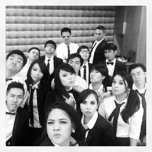 Cause we're, Men In God! Blacknwhite SuitnTie Tongsisservices