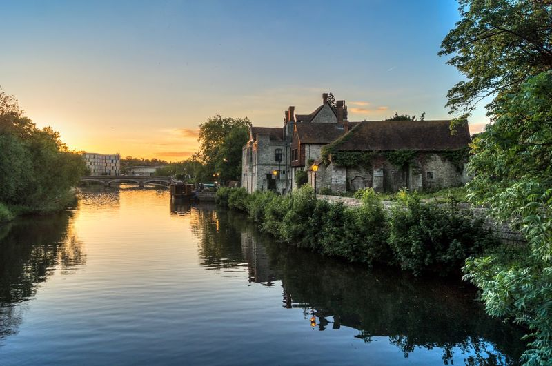 The Archbishop's Palace River Medway Medway River Maidstone Sunset Sonnenuntergang Fluss Fine Art Photography