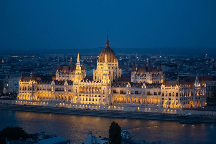 Budapest house of parliament view at the night.