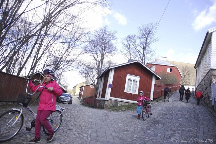 Finland Porvoo, Finland Streetphotography Street Photography Bikes Children Old Town Finland For Lovely 5days!!